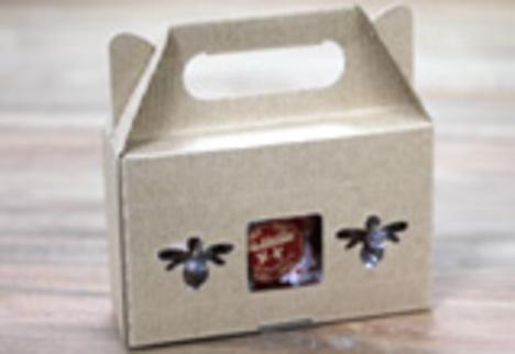 ハチミツ 3本ギフト用 クラフト箱
