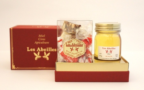 ギフト ハチミツ1瓶(アカシア)とフランス伝統菓子(18個)
