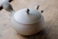 大仙 万古焼 焼〆  急須 250cc 深蒸し茶用帯網急須
