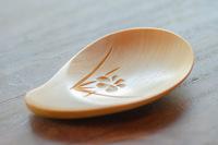 茶さじ 黄楊(つげ) ひょうたん 3.9cmx9.2cm