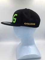 GALLIUMフラットバイザーキャップ BLACK