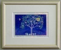 版画IPC1 クリスタル・森のコンサート吉岡浩太郎