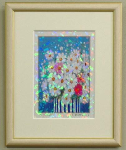 風水版画 IPC12 家庭運 白い花B吉岡浩太郎