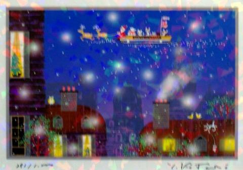 版画IPC17 クリスタル・クリスマス吉岡浩太郎