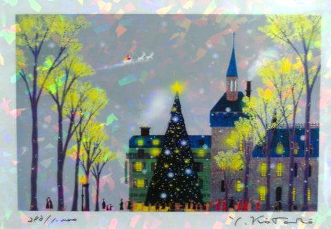 版画IPC33 クリスタル・光のクリスマス吉岡浩太郎