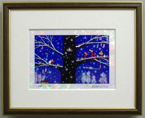 版画IPC34 クリスタル・雪のメロディ吉岡浩太郎