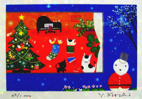 版画IPC60 クリスタル・ハッピークリスマス吉岡浩太郎