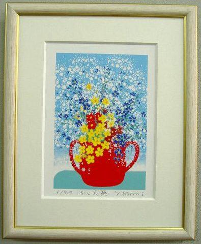 版画DP70 赤い花瓶吉岡浩太郎