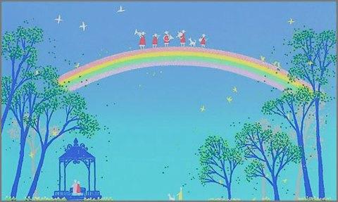 版画T75 虹の思い出吉岡浩太郎