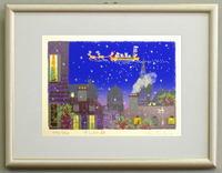 版画ST11 サンタの夜(クリスマス)吉岡浩太郎