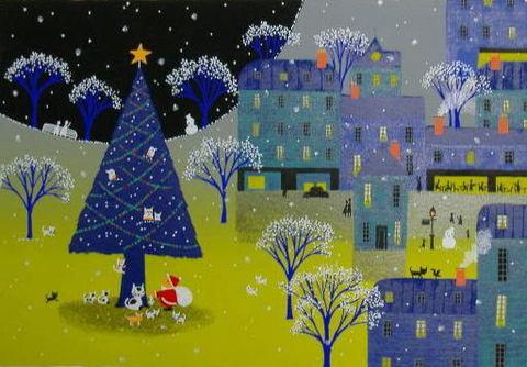 版画ST12 あなただーれ(クリスマス)吉岡浩太郎