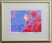 版画Y28 想い出のバラ吉岡浩太郎