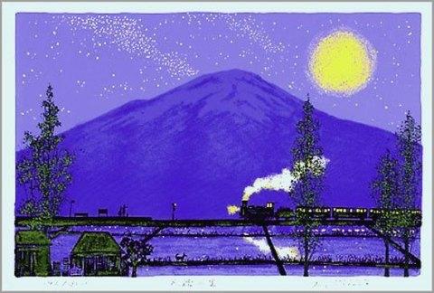 版画DK18 民話の里 吉岡浩太郎