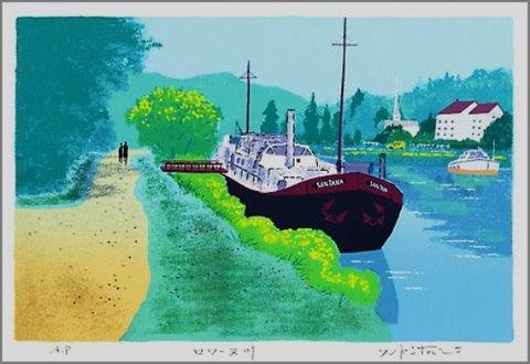 絵画,版画,吉岡浩太郎,風景画,