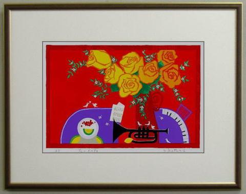 版画DK30 花のメロディ 吉岡浩太郎