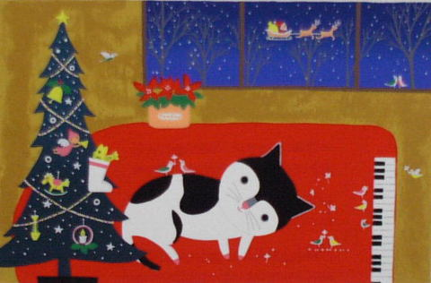 版画DKX1 メリークリスマス 吉岡浩太郎
