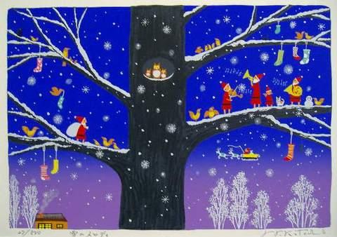 版画SDL11 雪のメロディ 吉岡浩太郎
