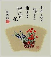 色紙3小さな花・春・吉岡浩太郎