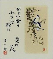 色紙4小鳥・夏・吉岡浩太郎