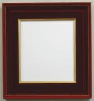漆風の高級感のある色紙額505 エンジ