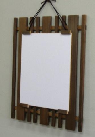 民芸調の色紙額・差込タイプ150 焼杉
