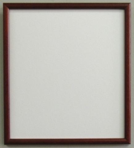 安価でシンプルな色紙額マホガニ S76M