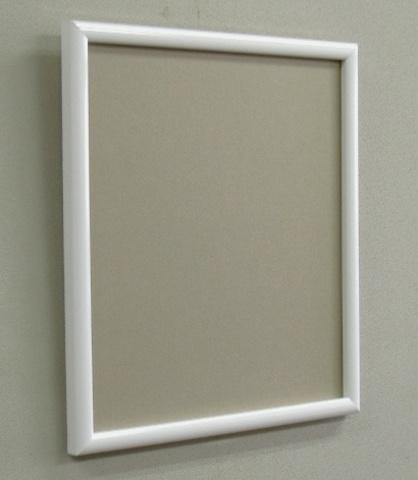 安価でシンプルな色紙額ホワイト S40W