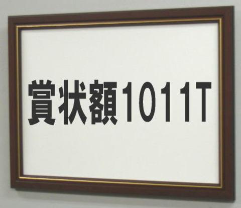 賞状額1011T 褒章(額縁内サイズ517X367ミリ)