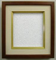 豆(1/4)色紙額4767こげ茶木地
