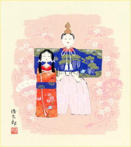 色紙11雛・吉岡浩太郎