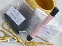 信楽焼き手火鉢ゴールデントング火箸セット