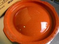 三河焼き陶板なべ直320xH50