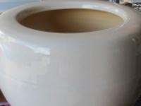 カラー手火鉢オリジナル白信楽焼と竹炭5cm20枚