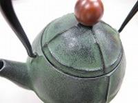 南部鉄器急須0.4L陶器風グリーン