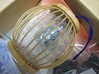 竹製風鈴フラワーふうりんサイズ直9×高8cm