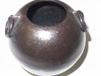 南部鉄花器珠中8.2×8.2cm浄水竹炭5枚付