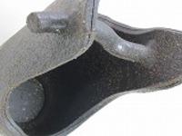 信楽焼陶器花器8039-05刷毛手桶花器11号