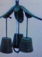 南部鉄風鈴竹林+浄水竹炭5枚付径13.2cm