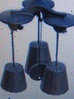 南部鉄風鈴三重奏+浄水竹炭5枚付9.2cm