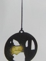 南部鉄灯篭風鈴金色堂丸型+浄水竹炭