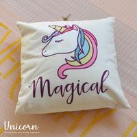 ym043】 ユニコーン グッズ『クッション Unicorn』 クッション 43×43 女の子 可愛い