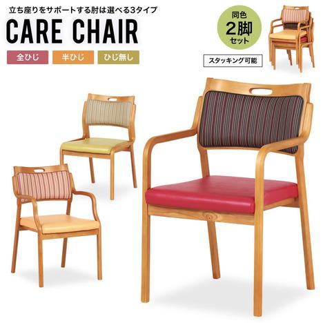 ダイニングチェア 高齢者『ダイニングチェア CARE CHAIR 同色2脚セット』 椅子 福祉施設向け 介護 日本製【sd011】