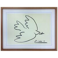 絵画 アートパネル『ピカソ アートパネル Dove of Peace』 壁掛け 額入り ポスター 名画 鳩【dow2116】