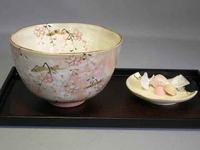 清水焼 京の春 抹茶碗