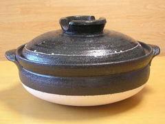 黒釉線紋6号土鍋