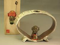 唐津白化粧丸型香炉