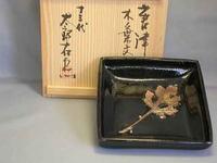 天目木の葉文鉢