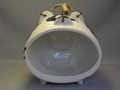 万古焼 呉須丸紋変形ぶた蚊遣り器