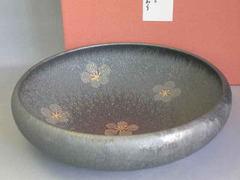 結晶銀花紋7寸鉄鉢