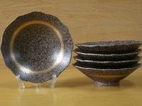 輪花金帯桔梗渕5.5寸鉢